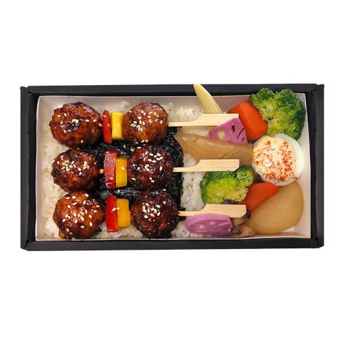 高級便當(秋)-醬烤豬肉丸串